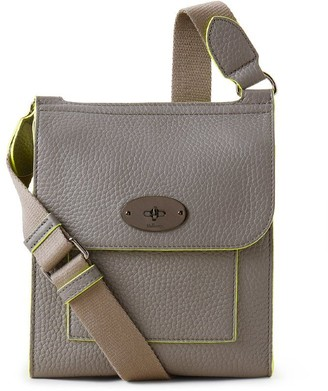 Mulberry Small Antony Charcoal Heavy Grain With Neon Inking