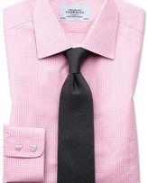 Charles Tyrwhitt Extra slim fit small gingham light pink shirt