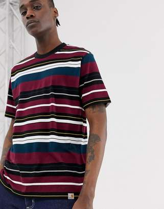 Carhartt Wip WIP short sleeve Flint stripe t-shirt-Red