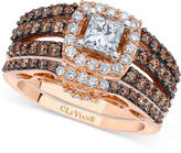 LeVian Le Vian® Chocolatier Diamond Bridal Set (1-3/4 ct. t.w.) in 14k Rose and White Gold