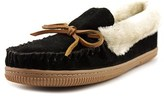 White Mountain Sleepover Moc Toe Suede Slipper.