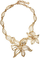 Oscar de la Renta Graphic Lily Statement Necklace