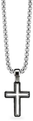 David Yurman Roman Cross Sterling Silver Enhancer Pendant