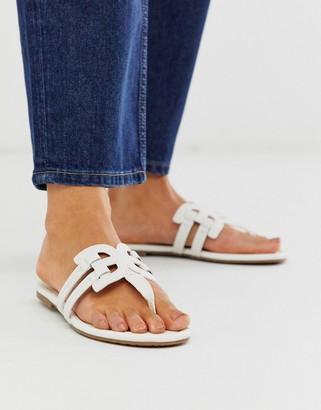 Sam Edelman cross strap flip flop in white