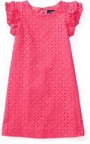 Ralph Lauren Eyelet Cotton A-Line Dress