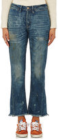 NSF Women's Distressed Cotton-Blend Boyfriend Jeans-BLUE, NAVY