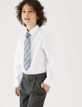 Marks and Spencer 3pk Boys' Plus Fit Easy Iron School Shirts