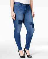 Style&Co. Style & Co. Plus Size Patchwork Tummy-Control Slim-Leg Jeans, Only at Macy's