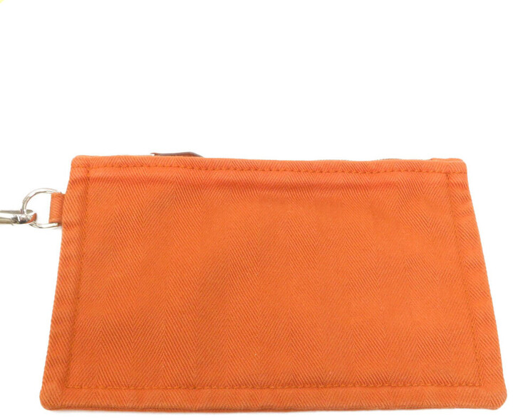 Thumbnail for your product : Hermes Orange Leather Valparaiso GM Tote Bag