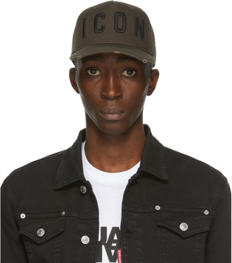DSQUARED2 Green and Black Icon Baseball Cap