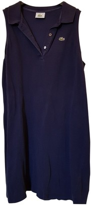 Lacoste Blue Cotton Dress for Women