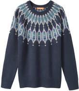 Joe Fresh Women's Metallic Fair Isle Sweater, JF Midnight Blue (Size S)