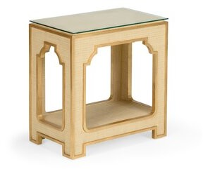 Chelsea House Glass Top End Table