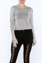 settle down Silver Long Sleeve Top