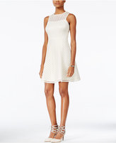 GUESS Illusion Striped Fit & Flare Dress