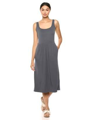 Amazon Brand - Daily Ritual Women's Jersey Sleeveless Empire-Waist Midi Dress