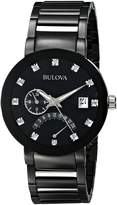 Bulova Men's Diamond Accented Dial Bracelet Watch 98D109