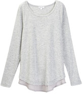 Splendid Chiffon Layered Tee (Big Girls)