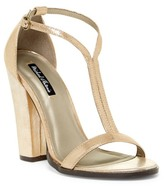 Michael Antonio Jons Metallic Dress Sandal