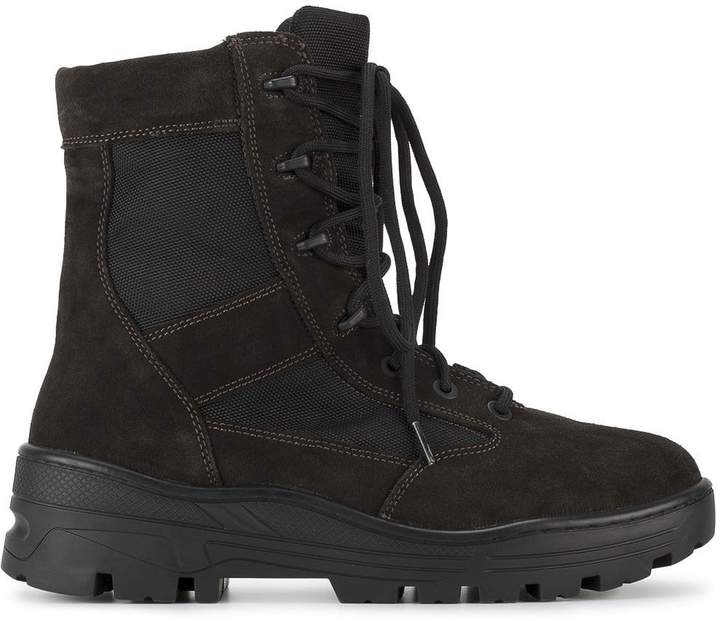 Yeezy Lace up combat boots