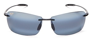 Maui Jim Unisex Lighthouse Polarized Rimless Sunglasses, 65mm