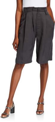 Brunello Cucinelli Lightweight Twill Bermuda Shorts