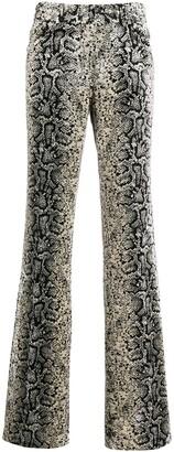 Giambattista Valli Snakeskin Effect Bootleg Trousers
