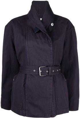 Etoile Isabel Marant Belted Cotton-Linen Blend Jacket