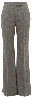 Gabriela Hearst Leda High-rise Virgin-wool Trousers - Dark Grey