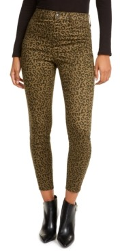Vanilla Star Juniors' Animal Print Skinny Jeans