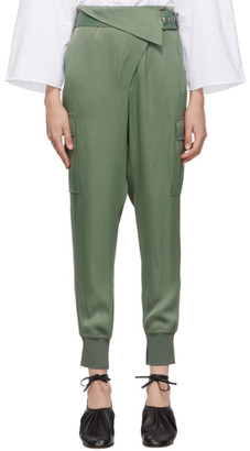 3.1 Phillip Lim Green Satin Cargo Trousers