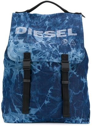 Diesel Logo Buckle Backpack