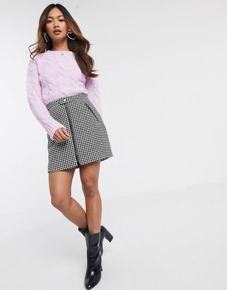Hollister dogtooth mini skirt