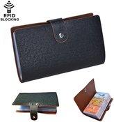 Fasot 96 Card Slots RFID Blocking Credit Card Holder Leather Multi Business Card Cases