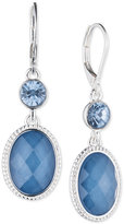 Nine West Crystal and Stone Double Drop Earrings