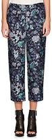 Burberry X Barneys New York Women's Floral-Print Silk Pajama Pants-NAVY