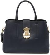 Persaman New York Marilyn Pebbled Leather Satchel