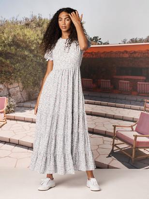 Diane von Furstenberg TVF Fern Silk Crepe de Chine Maxi Dress