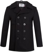 Schott Double-breasted wool-blend coat