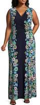 London Times Sleeveless Maxi Dress - Plus