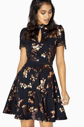 Little Mistress Fifi Gold Foil Prom Dress