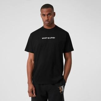 Burberry Love Slogan Cotton Oversized T-shirt