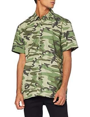 Casual Shirt Company Men's Camo Poplin Short Sleeve Casual Shirt