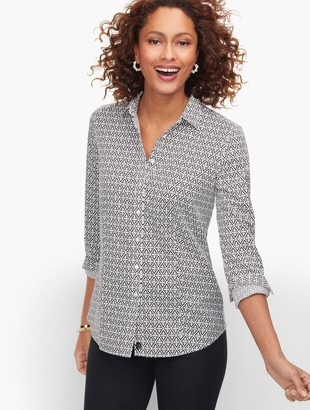 Talbots Perfect Shirt - Tile Print