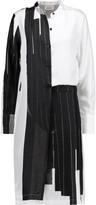 DKNY Printed silk-twill dress