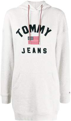 Tommy Jeans embroidered logo hoodie dress