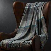 Crate & Barrel Pierce Plaid Throw Blanket
