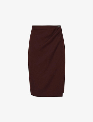 Reiss Freya high-waist wool-blend mini skirt