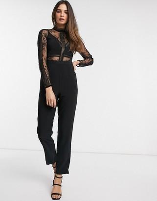 Y.A.S long sleeve lace jumpsuit