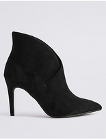 M&S Collection Stiletto Fold Over Ankle Boots
